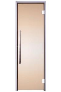 Стеклянная дверь для сауны Greus Exclusive  бронза 70х190