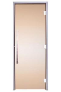 Стеклянная дверь для сауны Greus Exclusive  бронза 80х200