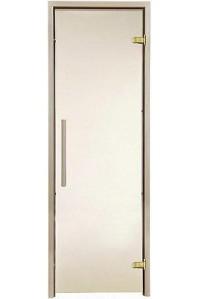 Стеклянная дверь для сауны Greus Premium  бронза 70х190