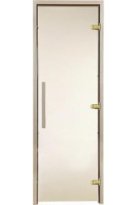 Стеклянная дверь для сауны Greus Premium  бронза 80х200
