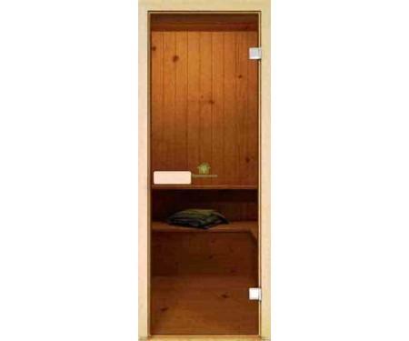 Дверь для сауны стеклянная Ольха Украина 80х190 (204737)
