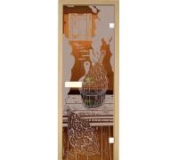 Дверь стеклянная Липа Парилка матовая Украина 70х180 (204572)