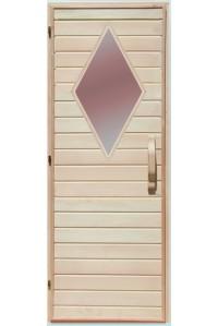 Дверь  для бани Липа стекло Ромб Украина 70х190 (202933)