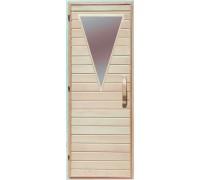 Дверь  для бани Липа стекло Треугольник Украина 70х190 (203164)