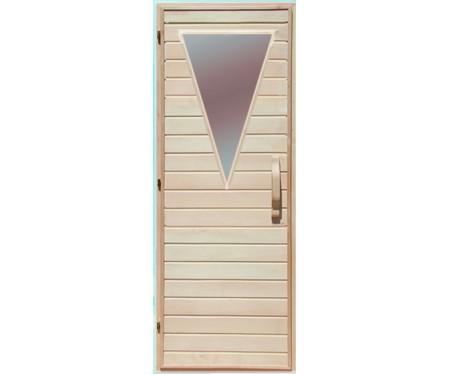 Дверь  для бани Липа стекло Треугольник Украина 70х200 (203164)