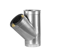 Тройник 45° для дымохода из нерж/оцинк