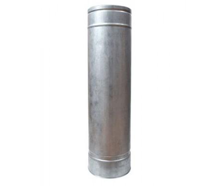 Труба дымоходная нерж/оцинк L-1м толщ. 0,8мм