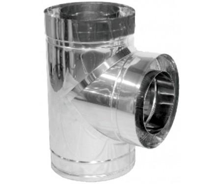 Тройник 87° для дымохода из нерж/оцинк толщ. 1 мм