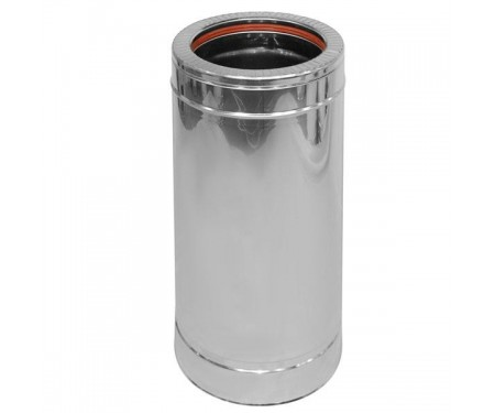 Труба дымоходная нерж/оцинк L-0,5м