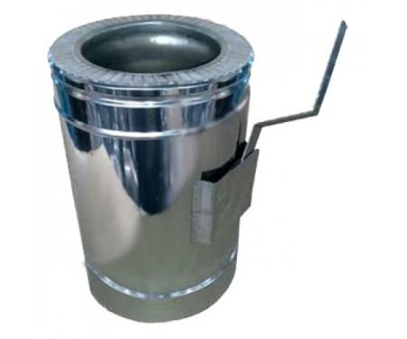 Регулятор тяги для дымохода нерж/нерж толщ. 0,8мм
