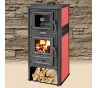 Печь на дровах с керамикой BLIST Ambasador R красная с духовкой ( 13 кВт )