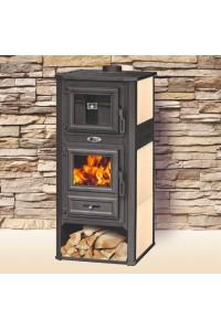 Печь на дровах с керамикой BLIST Ambasador R бежевая с духовкой ( 13 кВт )