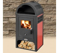 Печь на дровах с керамикой BLIST Diplomat Lux красная ( 10 кВт )