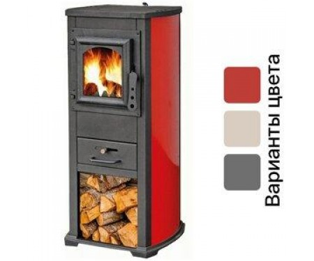 Печь на дровах BLIST Ekonomik Lux красная( 7 кВт )