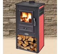 Печь на дровах с керамикой BLIST Konzul красная ( 9 кВт )
