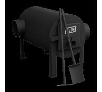 Дровяная отопительная печь Экожар Брест 200 с горизонтальным выходом теплого воздуха