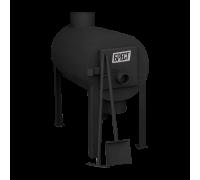 Дровяная отопительная печь Экожар Брест 200 с вертикальным выходом теплого воздуха