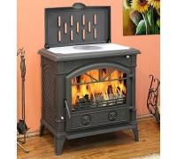 Печь-камин Eurokom Harold с нагревательной плитой (14 кВт)