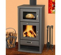Печь-камин Eurokom Delux с духовкой (9 кВт)