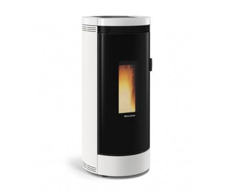 Пеллетная печь с системой вентиляции Nordica DEBBY CX white (9 кВт)