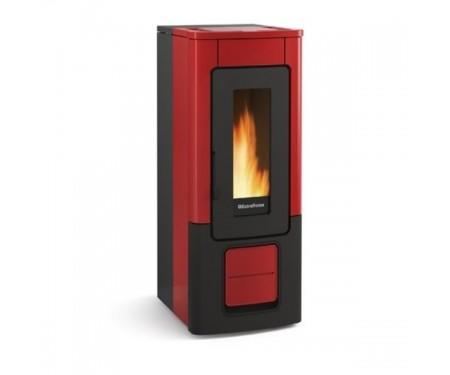 Пеллетная печь с системой вентиляции Nordica WENDY bordo (10 кВт)