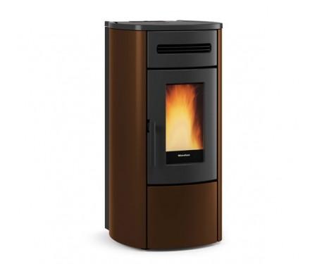 Пеллетная термо-печь герметичная и вентилируемая Nordica GUENDA IDRO bronze (17,6 кВт)
