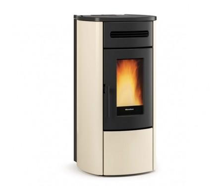 Пеллетная термо-печь герметичная и вентилируемая Nordica GUENDA IDRO ivory  (17,6 кВт)