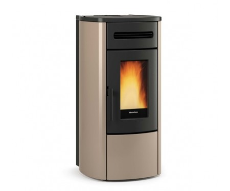 Пеллетная термо-печь герметичная и вентилируемая Nordica GUENDA IDRO tortora (17,6 кВт)