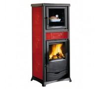Отопительно-варочная печь Nordica Termo Rossella Plus Forno (13,5 кВт) красная