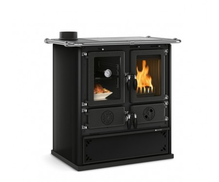 Дровяная плита Nordica ROSETTA SINISTRA STEEL black  (7,3 кВт)