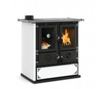Дровяная плита Nordica ROSETTA SINISTRA STEEL white (7,3 кВт)