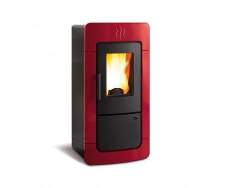 Пеллетная термопечь Nordica DIADEMA IDRO EVO красный (28 кВт)