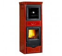 Отопительно-варочная печь Nordica Termo Nicoletta Forno (13,5 кВт) красная