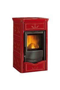 Отопительно-варочная печь Nordica Termo Nicoletta Evo (13,5 кВт) красная