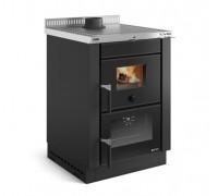 Встраиваемая дровяная  плита Nordica VICENZA EVO black (6 кВт)
