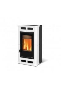 Дровяная печь с системой вентиляции Nordica FLÒ white (8.3 кВт)