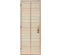 Деревянная дверь глухая для сауны Украина 80х190 липа первый сорт