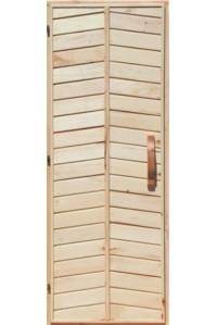 Деревянная дверь глухая для сауны Украина 80х200 липа первый сорт