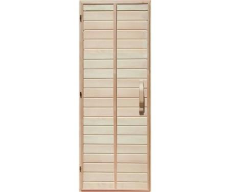 Деревянная дверь глухая для сауны Украина 80х200 липа высший сорт