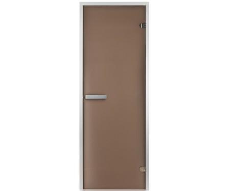 Стеклянная дверь для хаммама Greus 80х200 матовая бронза
