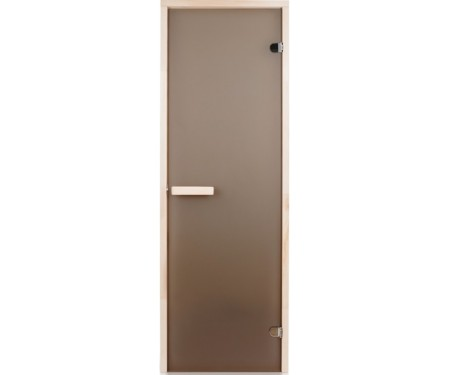 Стеклянная дверь для сауны Greus 70х190 матовая бронза
