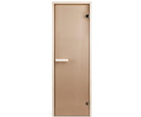Стеклянная дверь для сауны Greus 80х200 бронза
