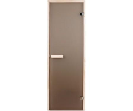 Стеклянная дверь для сауны Greus 80х200 матовая бронза