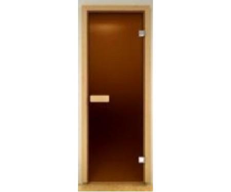 Стеклянная дверь для сауны Украина 80х200 матовая бронза