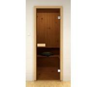 Стеклянные двери для сауны и бани Pal 70x190 (бронза)
