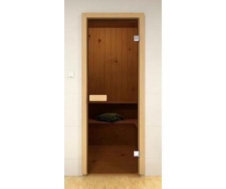 Стеклянные двери для сауны и бани Pal 80x190 (бронза)