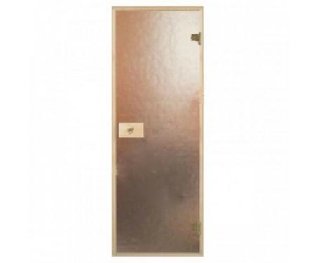 Стеклянные двери для сауны и бани Pal 80x190 (шиншилла)