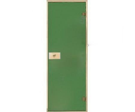 Стеклянные двери для сауны и бани Pal 80x210 (зеленый)