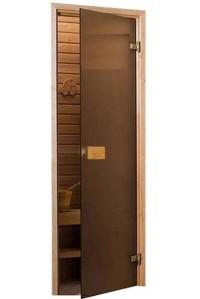 Стеклянные двери Saunax Classic 69x189 (матовая бронза)