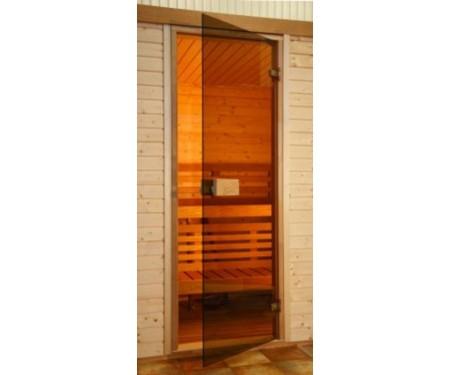 Стеклянные двери Saunax Classic 69x199 (бронза)